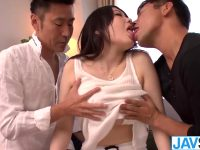 Busty Rie Tachikawa Gets An Asian Creampie From Two Guys