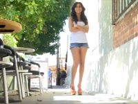 Flashing Her Goods On A Busy Street For FTV
