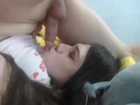 Jesse Bells Cums In Her Mouth
