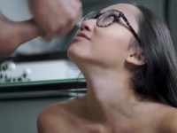 LunaxJames Cumming On Her Face And Glasses.