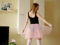 Shy Young Ballerina Belonika Flashes Her Charms
