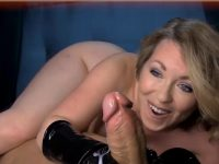 Wife Hand Job In A Latex Gloves