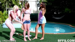 18 Second Mark: Alice Pink, Lilo Mai, Melody Marks Caught By A Stranger At His Pool . . . I Guess
