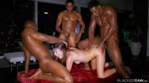 Adria Rae's All Holes Filled With Three BBCs