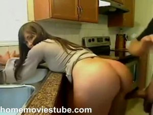 Amateur Slut Gets Fucked From Behind On Home Movie