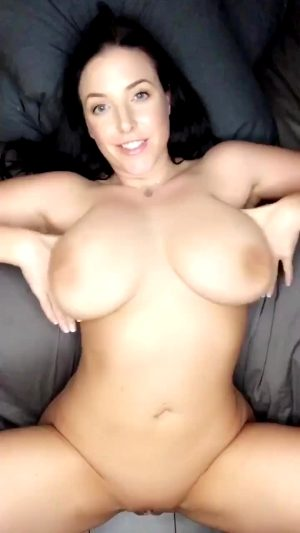 Angela White Playing With Her Big Tits