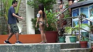 Asian Bar Girls In Bikini At Pool Party Look For Customers For Sex