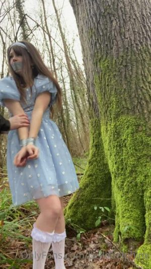 Belle Delphine Getting Roughed Up In The Woods