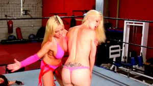 Big Bum Blonde Spanked In The Ring