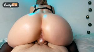 Big Oily Ass Riding A Big Cock In Reverse Cowgirl