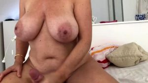Busty GILF Jerks Me Off Before Sleep With Her Banging Hot Body