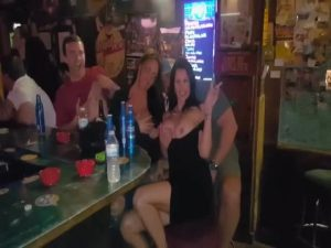 Drinks And Kisses In The Bar!