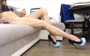 Fit Body, Thick Curved Cock A D Beautiful Long Legs Finished With High Heels!