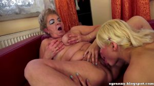 Girls Sweet Licks Granny's Old Hairy Pussy