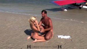 Gorgeous Jiggly Blonde Fucking At The Beach