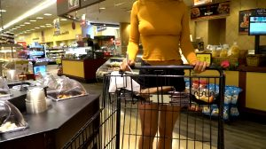 Grocery Shopping Braless