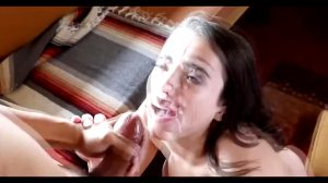 Huge Facial For This Cumslut