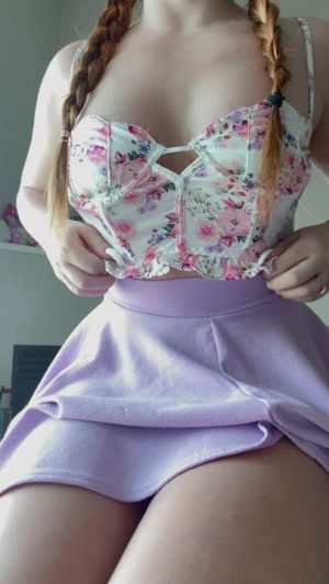 I Own This Skirt In Every Colour, Want To Fuck Me Around The Rainbow?
