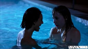 Janice Griffith And Ivy Wolfe Have Fun In The Pool