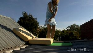 Masturbating Naked On The Roof