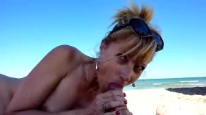 Mature Lady Suck Her Bf Dick At Beach