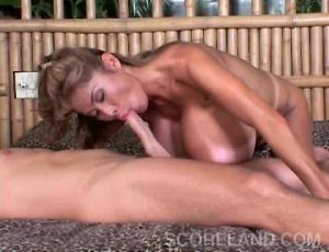 Minka In Tit Attack Oral With Help GIF