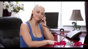 Older Mom Talks On The Phone With Daddy While Son Works On Her Tits And Pussy