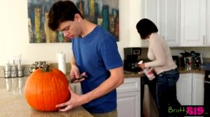 Pranking His Little Sister During Halloween