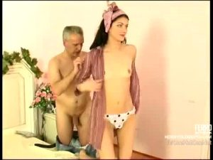 Russian Sugar Daddy Has His Way With A Brunette With Tiny Tits