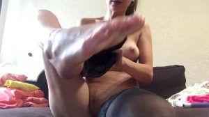 Showing Off Foot Job Skills With A Dildo