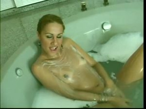 Slender Beauty In The Tub