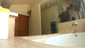 Stepbrother Spies In Bathroom While Stepsis Takes Shower
