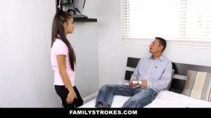 Teen Sister Getting Double Fucked By Her Dad And Bro After They Found Out She Was Double Dealing Them