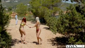 Threesome On The Beach And Then At The Villa