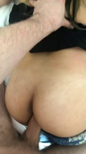 Tiny Asian Girl Takes A Huge Cock From Behind