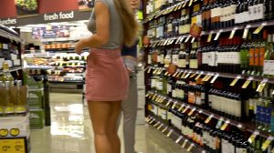 Upskirt In The Grocery Store