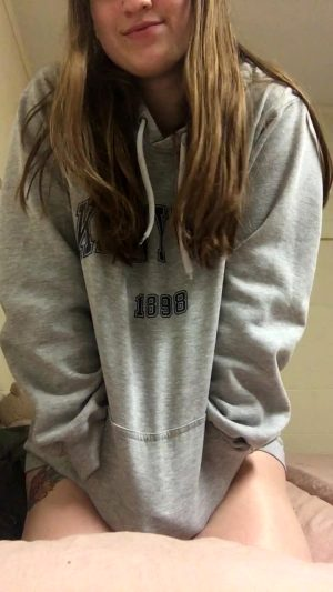 Whats Under This Little College Freshman's Hoodie? 18