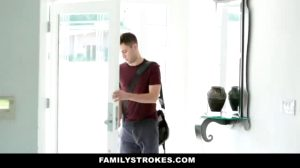 Young Son Has To Pick Up The Pace When Older Daddy Can't Keep Up With Hot Milf Stepmom