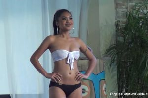 Angeles City Sexy Filipina Bar Girls Wet T-Shirt Bikini Contest Pool Party