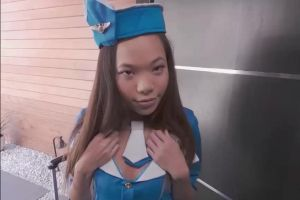Asian Flight Attendant Craving A Good Fuck