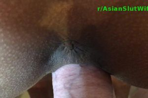 Asian Wife's Pussy Clenching Round A Cock