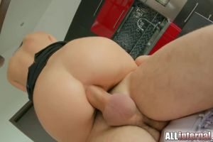 Beautiful Dark Haired Babe Gets Her Ass Fucked
