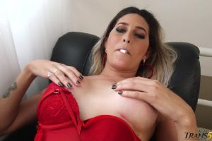 Bellatrix Fontes Trans Babe Plays With Tits