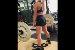 Carmella Working Out Her Ass