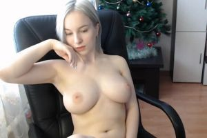 Cute Pale Camgirl Plays With Her Tits
