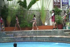 Filipina Pool Party With Bar Girls Looking For Dates