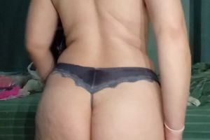 Gray Satin Brazilian Cut Thong With 48hr Wear?pm For Info Or Kik Tempest2007