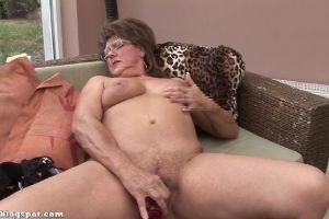 Horny Granny Plays With Herself