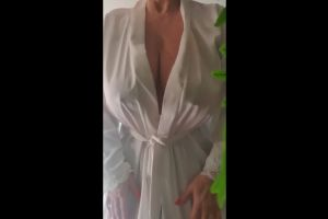 Playing With My Nipples Under My White Satin Gown Xx 54yo ???