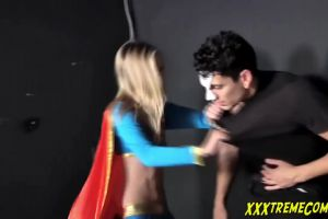 Rachel James – Supergirl Takes A Pounding